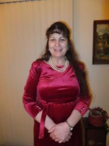 Susie-February-2013-in-Red-Velvet-Dress
