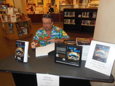 Robert Saltzman at book signing